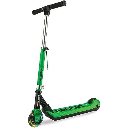 Ninco NH33006 Wheels E-Scooter JR Rocket Green Patinete eléctrico plegable para niños. +6 años, color, verde