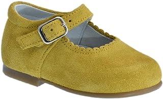 Guxs Zapato Merceditas Ni/ña Piel Serraje Gris