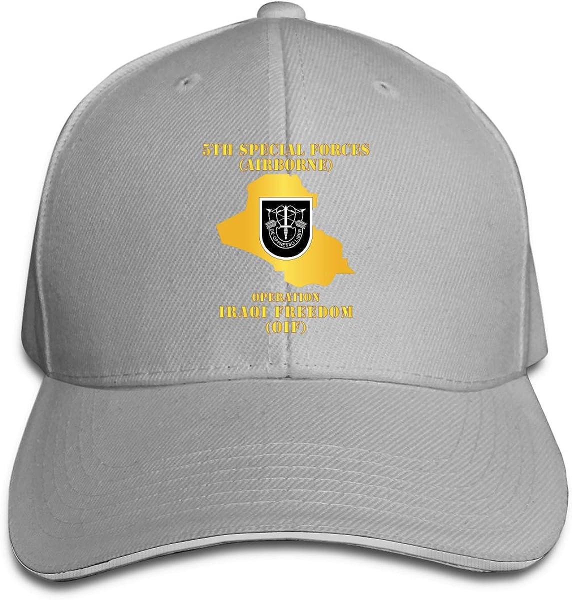 5th SFG OIF Map Adjustable Baseball Caps Vintage Sandwich Hat