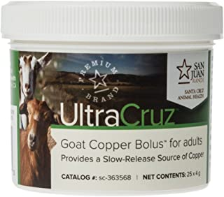 UltraCruz Goat Copper Bolus Supplement for Adults, 25 Count x 4 Grams