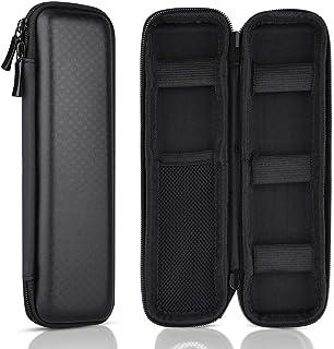 KUUQA Black Hard Pencil Case EVA Hard Shell Pen Case Holder for Executive Fountain Pen..