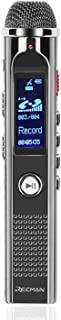 TNP Digital Voice Recorder with Playback, Rechargeable Voice Activated Dictaphone - Stereo Mic w/ Noise Reduction, Portable MP3 Player w/ FM Radio Recording (8GB) Includes Headphone & Mic Stand