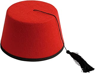 94b0bafb2e222 Adult Red Dr. Who Turkish Shriner FEZ Felt Costume Hat