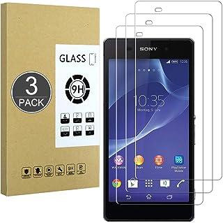E-Hamii [3-Pack] 9H Härdat Splittrigt Glas Kompatibel med Sony Xperia Z2,[HD Crystal Clear]0,33 mm Skärmskydd för Sony Xpe...
