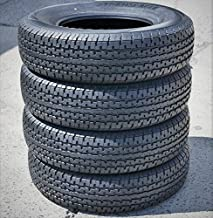 Set of 4 (FOUR) Transeagle ST Radial II Steel Belted Premium Trailer Tires-ST225/75R15 117/112L LRE 10-Ply