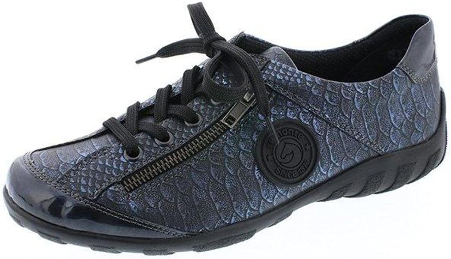 Remonte R3408-17 bluee Snake Print Leather Trainer shoes
