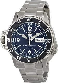 Seiko Men's Automatic Stainless Steel Dress Watch, Color:Dark blue silver-Toned (Model: SKZ209J1)