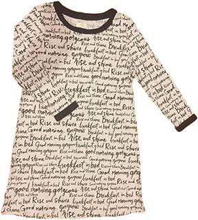 Kate Spade Long Sleeve Knit Sleep Shirt,Dream A Little Dream,Pink/Navy