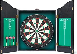 Dartboard with Cabinet with Built-in Storage with 6 Darts