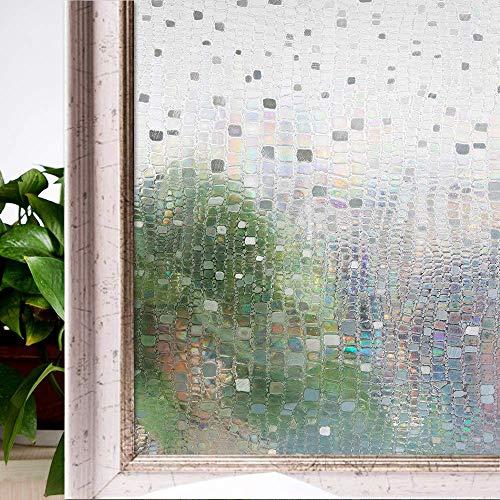 LMKJ Pegatinas de Ventana de preservación estática, película de Vidrio para el hogar Privado de línea de guijarros 3D, Pegatinas de Vidrio para Puertas y Ventanas Familiares A73 30x200cm
