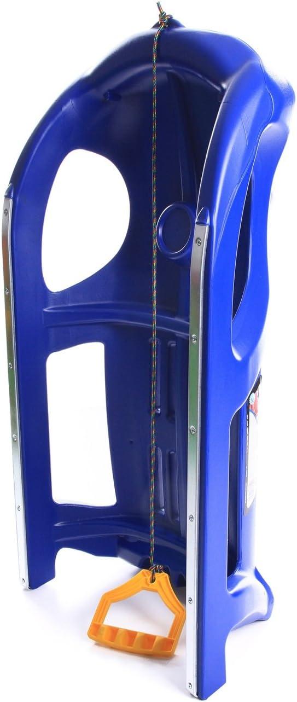 Blau Unbekannt Schlitten Kinderschlitten Rodel aus Kunststoff Zugseil Metallkufen Zigi-Zet 2 Farben