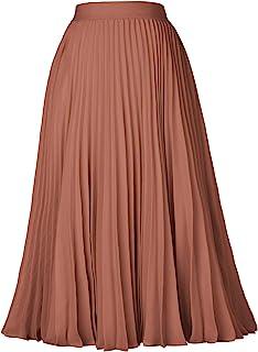 Womens Girls Summer Ruffle Stretchy Mini Midi High Waist Belted Skirt One Size