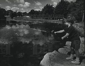 Historic Images - 1993 Vintage Press Photo Craig Johnson Fishing for Bluegills At Jackson Park Lagoon