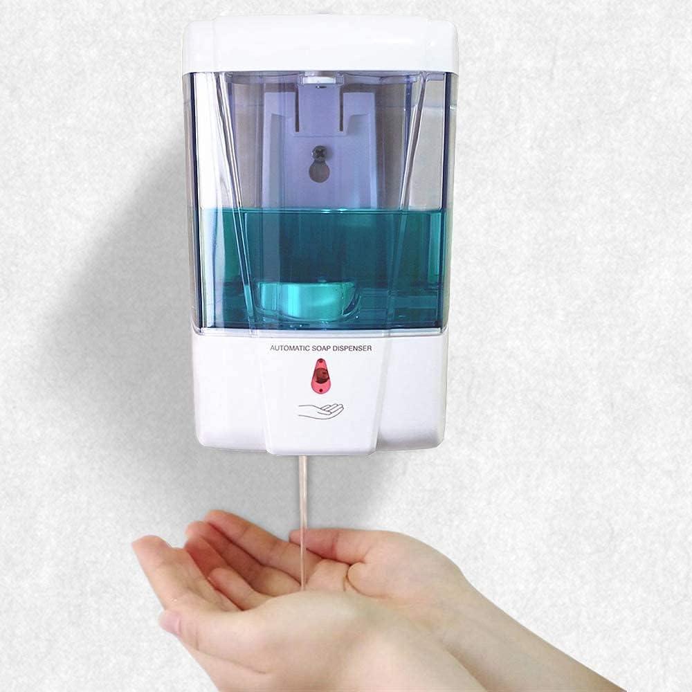 Dispensador de Desinfectante Manos,700ML Dispensador Jabon Pared,Dispensador de Jabón Automático Sin Contacto con Sensor de Movimiento Infrarrojo,Dispensador de Jabón para Baños,Cocinas,Hoteles