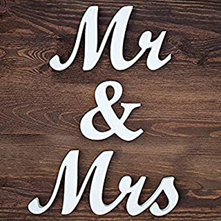 mr & mrs wooden wall letters