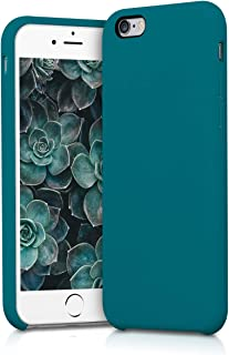 kwmobile TPU Silicone Case for Apple iPhone 6 / 6S - Soft Flexible Rubber Protective Cover - Teal Matte