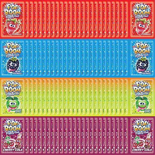 Tiltay Pop Boom Popping Candy – For Halloween - 4 Flavor Assortment, Strawberry, Cherry Cola, Green Apple, Blue Raspberry - 200 Packs