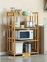 Multifunctional Kitchen Storage Rack Storage Shelf Kitchen Storage Pot Rack Microwave Oven Utensils Frame Floor-Standing 3...