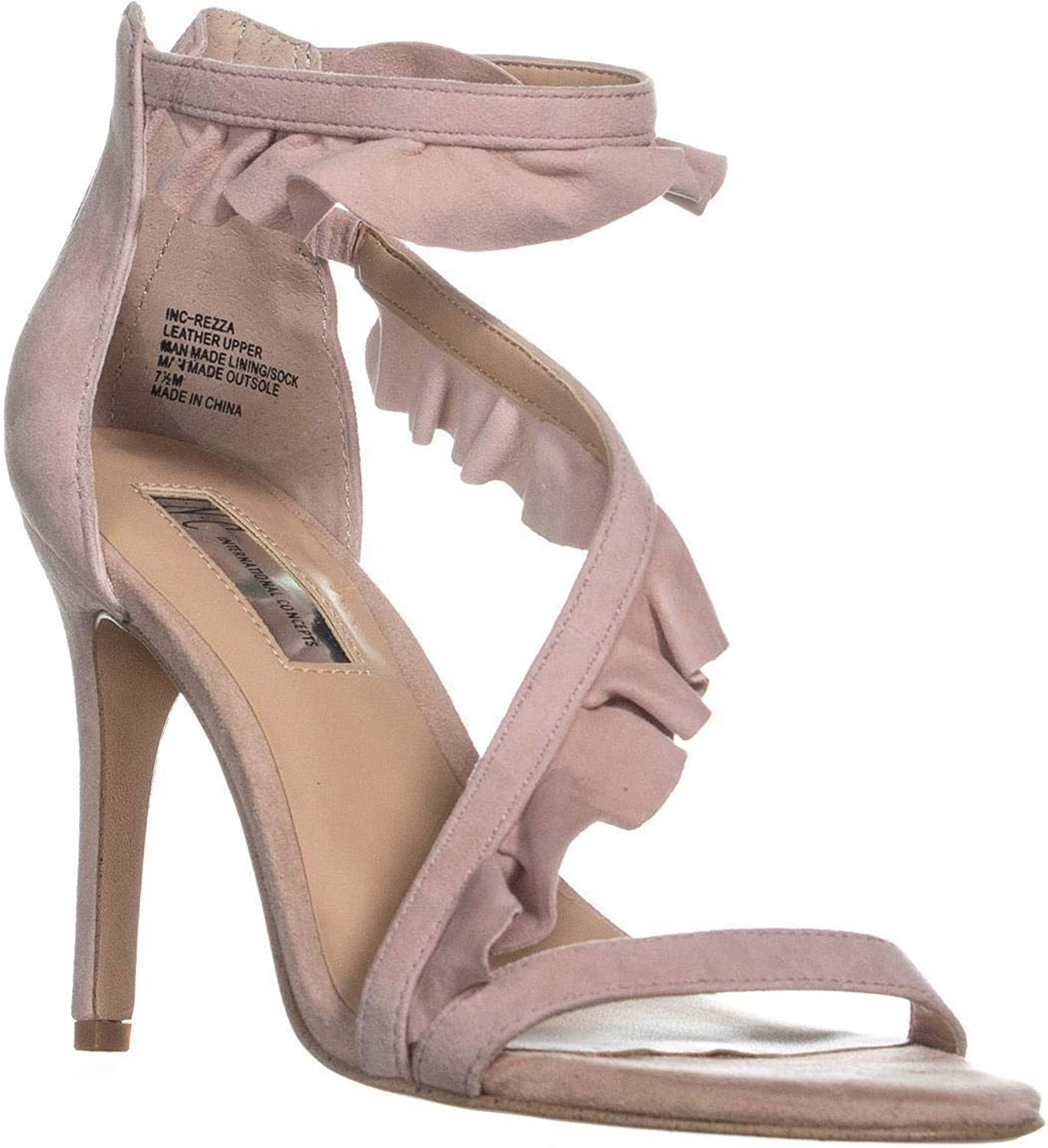 INC International Concepts Womens Rezzal Leather Open Toe Special Occasion an.