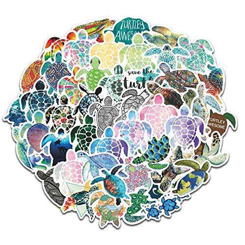 100PCS 10/30/50PCS Color Cute Turtle Hand Account Graffiti Notebook Suitcase Mobile Phone Helmet Waterproof Stickers Wholesale stickers (Color : 10PCS)