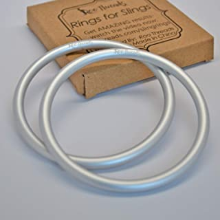 """Roo Threads 3"""" Aluminum Rings for Baby Slings, Silver"""