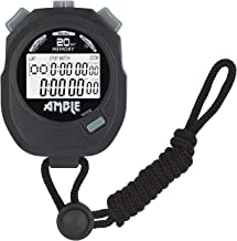 Amble Stopwatch, Countdown Timer and Stopwatch Record 20 Memories Lap Split Time with Tally Counter and Calendar Clock wit...