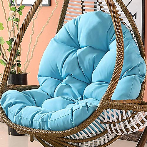 SFSGH Hanging Chair Seat,non-slip Chair Pads,swing Basket Cradle Wicker Chair Adult Rocking Chair Cushion Indoor Balcony Pad Soft-blue 86x120x15cm(34x47x6inch)