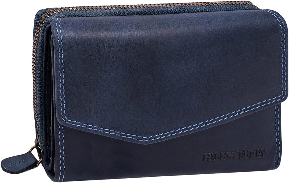 Hill burry portafoglio da donna porta carte di credito in vera pelle SBHB302