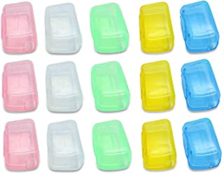 Timoo Toothbrush Cover Antibacterial Toothbrush Head Cover Case Cap for Regular & Electric Toothbrushes, Assorted Colors, Pack of 50