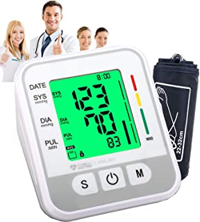 Blood Pressure Monitor, Automatic Digital BP Monitor Upper Arm with Cuff 22-32cm, Large Screen, 2*99 Reading Memory, Blood Pressure Machine Pulse Rate Monitor for 2 User Adult Home Use