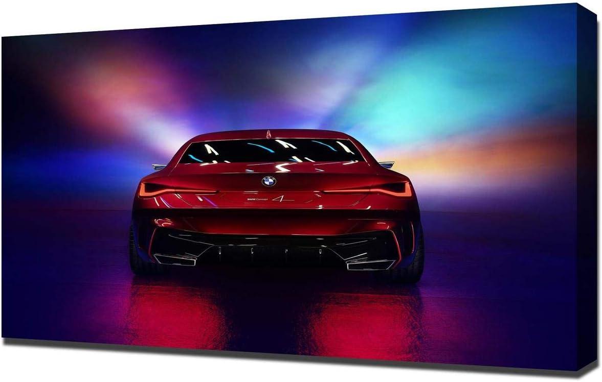 Lilarama (Compatible with 2019-BMW-Concept-4-V4- Art Leinwandbild – Kunstdrucke – Gemälde Wandbilder