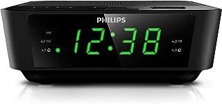 Philips Audio AJ3116 Wake-UP Alarm Clock, FM Radio, Digital Tuner, Build-in Alarm, Dual Alarms, Sleep Timer, Battery Back-...