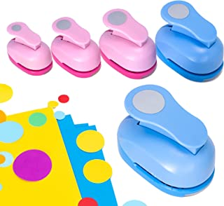 Circle Punch Craft Hole Punch Shapes - Circle Scrapbooking Puncher Shapes Set, Paper Round Punchers with Different Size Cr...