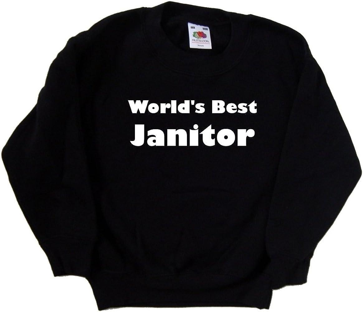 World's Max 53% OFF Best Janitor Kids Black Las Vegas Mall Sweatshirt