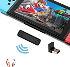 WeChip GuliKit Route Air Bluetooth Adapter for Nintendo Switch/Switch Lite / PS4 / PC, 5mm, Low Latency, Battery Free, Plu...