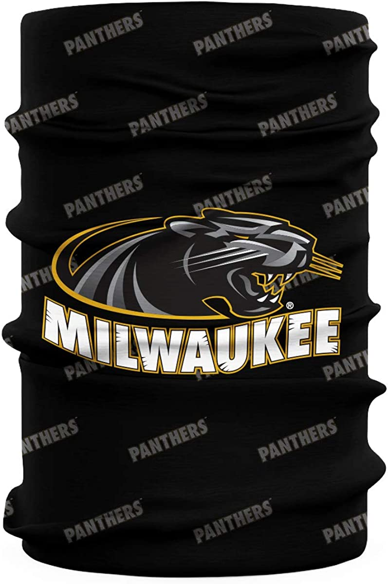 Wisconsin Milwaukee Panthers Black Neck Gaiter All Over print Vive La Fete