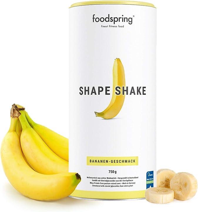 Frullato dietetico foodspring - shape shake alla banana - 750 g B07DHQ7DNB