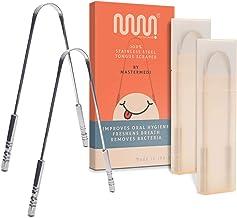 MasterMedi Language Scraper Cleaner از جنس جراحی از جنس استنلس استیل ضد زنگ جراحی دندان قلم مو حرفه ای از بین بردن تنفس بد با گرفتن غیر مصنوعی (مجموعه 2)