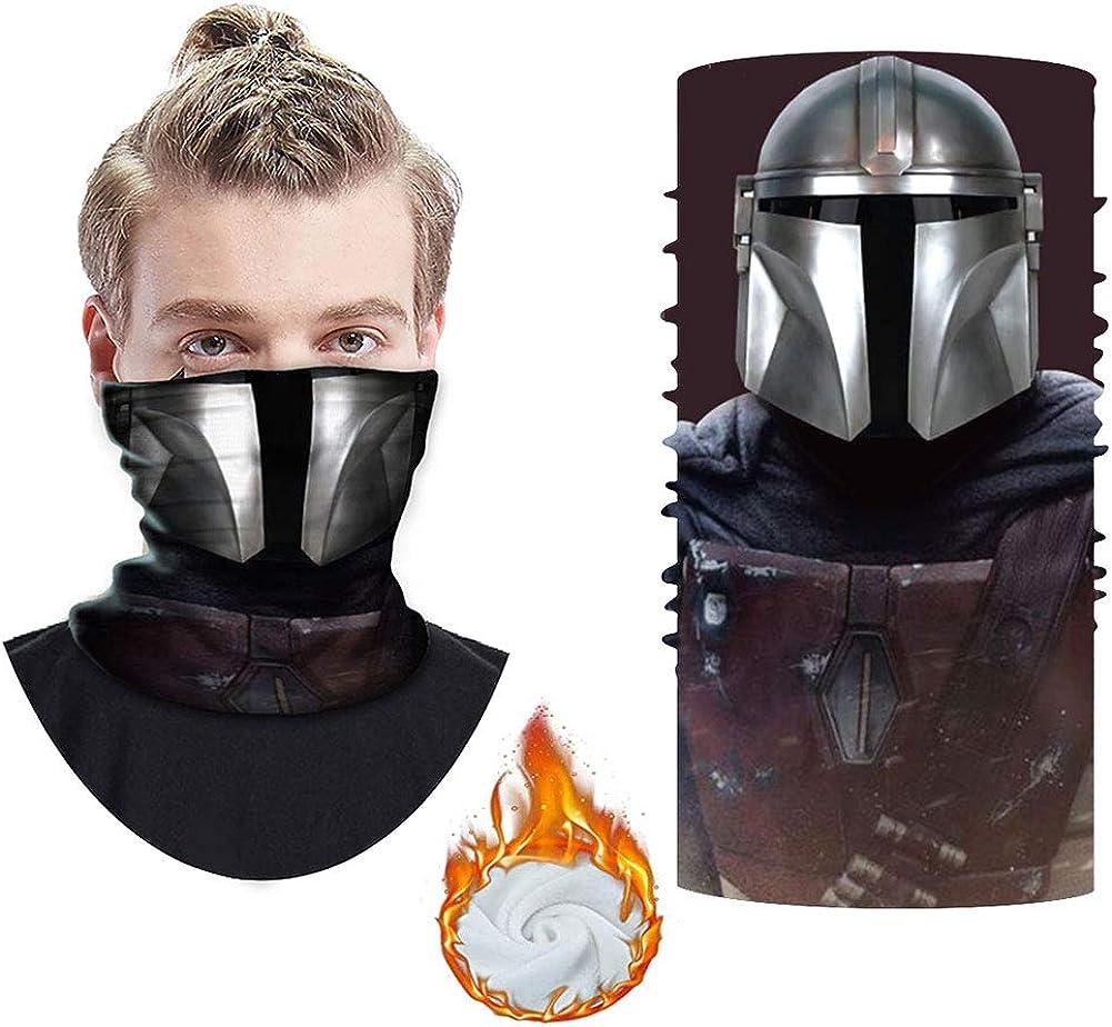 Mando Face Mask Neck Gaiter - Mouth Cover Cooling Bandana Windproof Balaclava Adjustable Reusable for Men Women