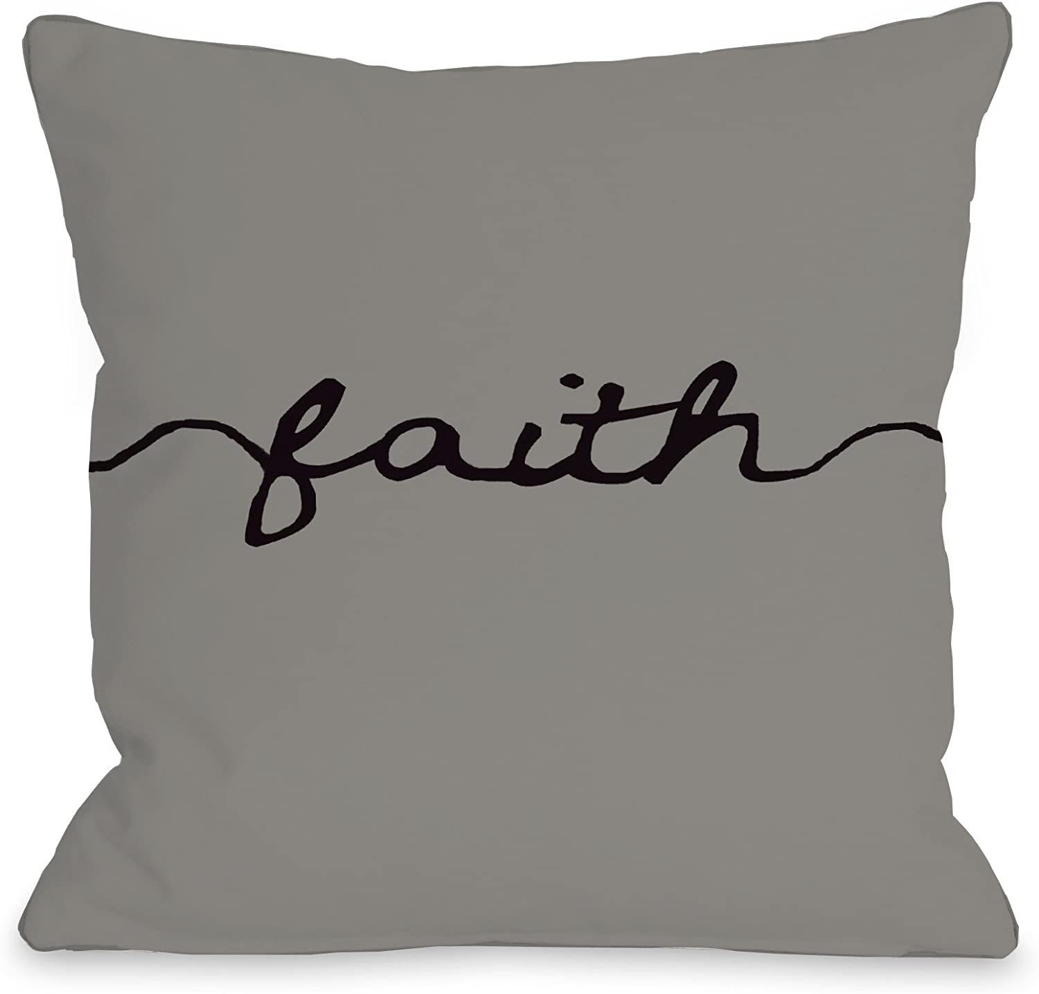 One Bella Casa Faith Mix Match Throw Pillow Cover By Obc 18 X 18 Gray Black Home Kitchen Amazon Com