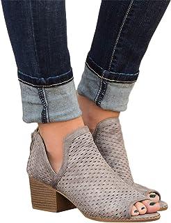 831634ff1d 2019 Sandalias Romanas Para Mujer, Botines De Tacón Alto Ancho De Vestir  Hollow Zapato Solo