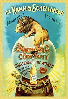 ArtParisienne The Kamm & Schellinger Brewing Company Challenge The World 24x36-inch Wall Decal