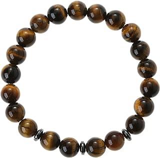 Bracelet 100% pierre naturelle- oeil de tigre . élégant. cadeau parfait pour toute occasion.