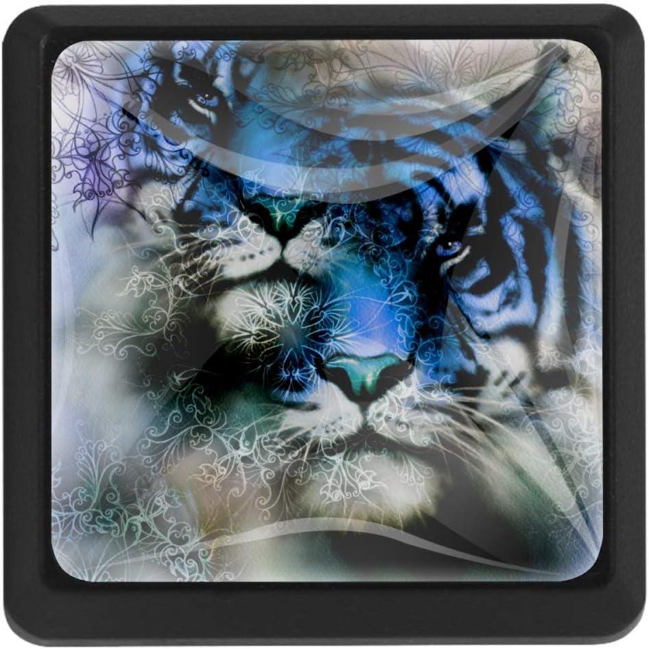 Shiiny Tiger and Mandala Square Drawer Handles Pulls New product!! - Max 67% OFF Kit Knobs