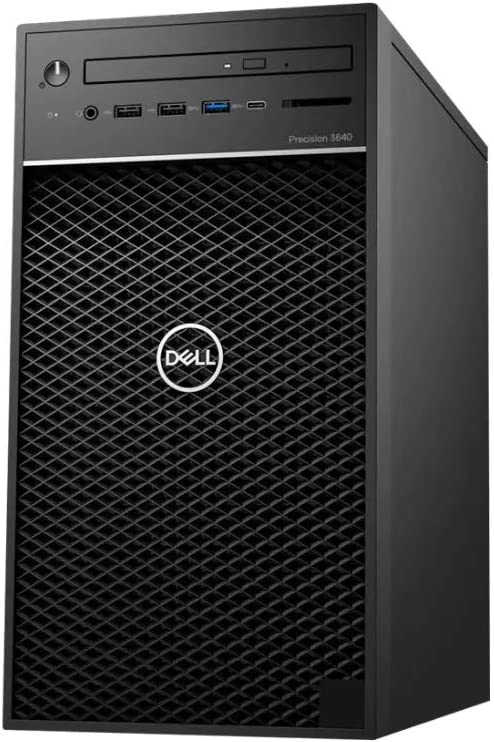 Dell Precision 3640 Tower Workstation - 3.8 GHz Intel Core i7 8-Core (10th Gen) - 64GB RAM - 1TB SSD + 4TB HDD - Quadro P1000, 4GB - Windows 10 pro