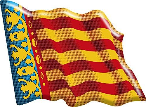 Artimagen Sticker Flagge ondeante Valencia Harz 66x 48mm
