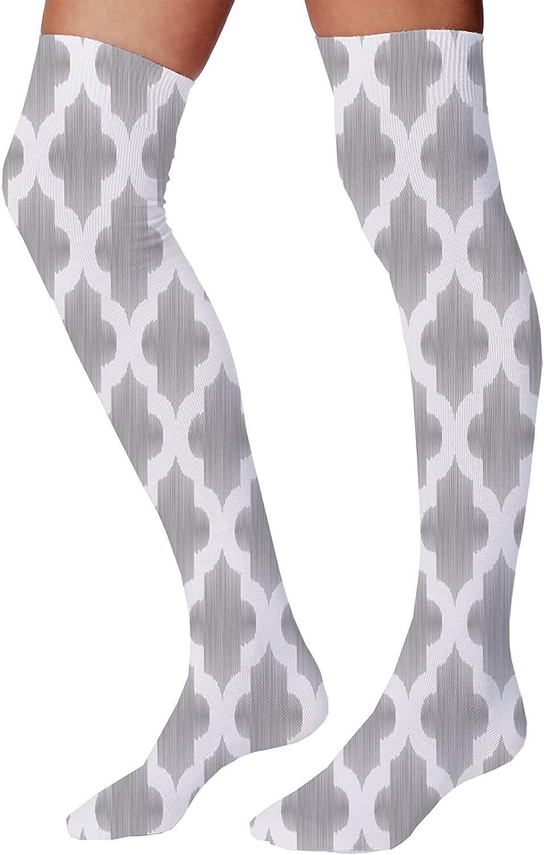 Unisex Funny Colorful Dress Socks Patterned Crazy Design SocksDamask Geometric Middle Eastern Effects Arabesque Artful Design Print