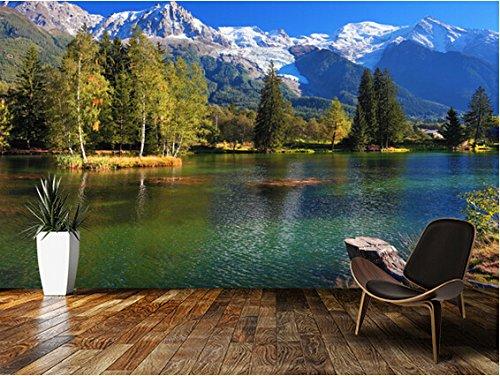 Yosot Benutzerdefinierte Modernen Tapeten, Schneebedeckte Berge, 3D Foto Natur Für Wohnzimmer Schlafzimmer Küche Hintergrundbild-200Cmx140Cm
