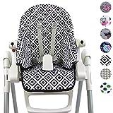 Bambiniwelt Funda de repuesto para cojín de asiento, funda para Peg Perego Zero3 Design (cuadros negros y blancos), XX