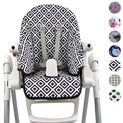 Bambiniwelt - Funda de repuesto para Peg Perego Zero3 y Siesta, diseño Blanco y negro.